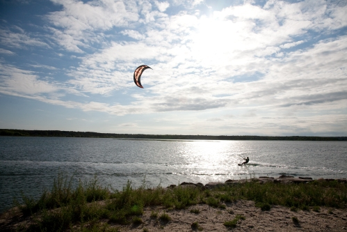 Windsurfer, early evening, Sengekontacket Pond, Martha's Vineyard