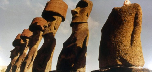 Easter Island image Nick Waplington book Other Edens 1994